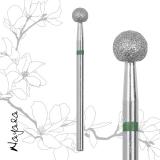 Фреза алмазная зеленая шарик 0.50